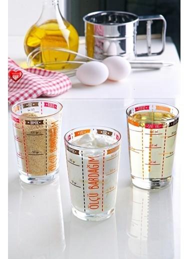 Kitchen Love 3 Lü 150Cc.Cam Ölçü Bardağı Renksiz